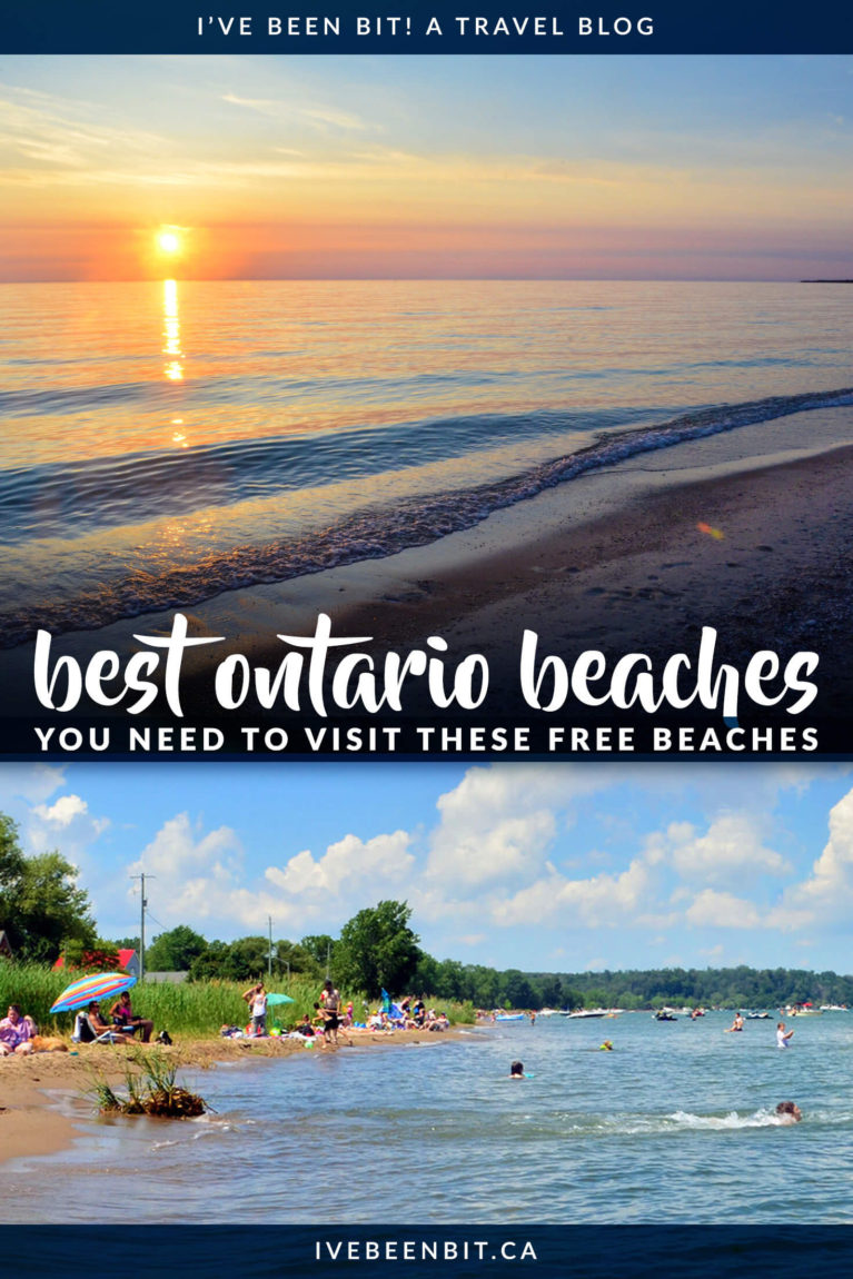 Ever wanted to know where the best beaches in Ontario are? What if I told you they were FREE too. Yes, it's true! If you're visiting Ontario this summer you need to check out this incredible Southwestern Ontario beaches! | #Travel #Canada #Ontario #Beaches | IveBeenBit.ca