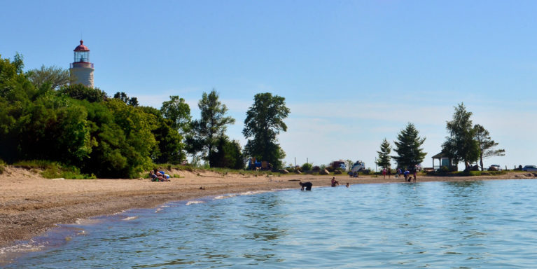 View from the Water of Point Clark Beach :: I've Been Bit! Travel Blog