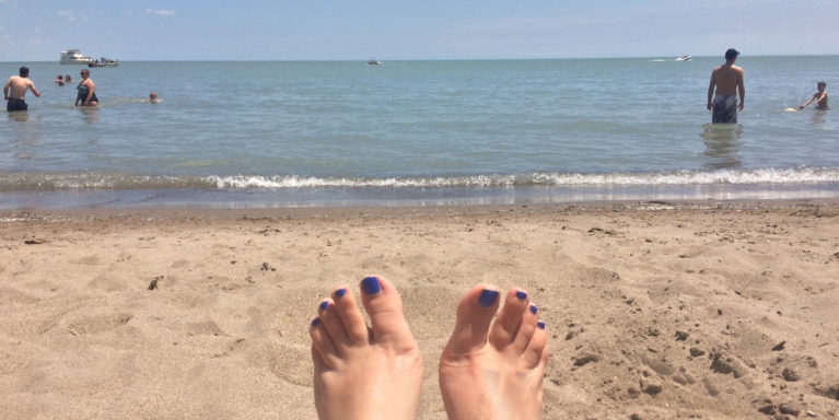 Feet in the Sand at Port Dover Beach :: I've Been Bit! Travel Blog