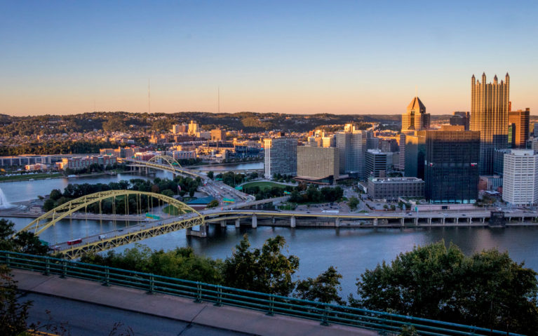 Downtown Pittsburgh at Sunset :: I've Been Bit! Travel Blog