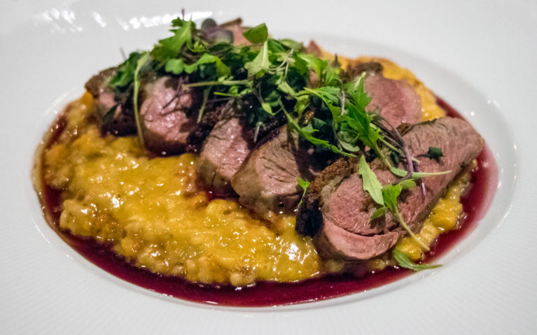 Nicely Plated Duck Dinner with Squash Risotto at 30Boltwood in Amherst, MA :: I've Been Bit! Travel Blog