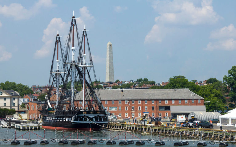 Black Boat in the Boston Harbour :: I've Been Bit! Travel Blog