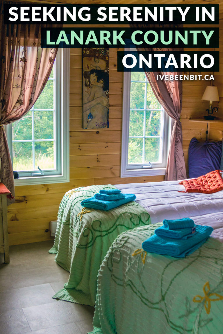 Looking for a serene weekend getaway in Ontario? Lanark County in Ontario's Highlands is the place to be! Enjoy a relaxing trip as you soak your stress away with spa time, great restaurants, adorable towns and so much more. Click for all the details! | Ontario Getaways. Ontario Road Trips. Eastern Ontario Travel. Ontario Travel. | #Travel #Canada #Ontario #LanarkCounty | IveBeenBit.ca