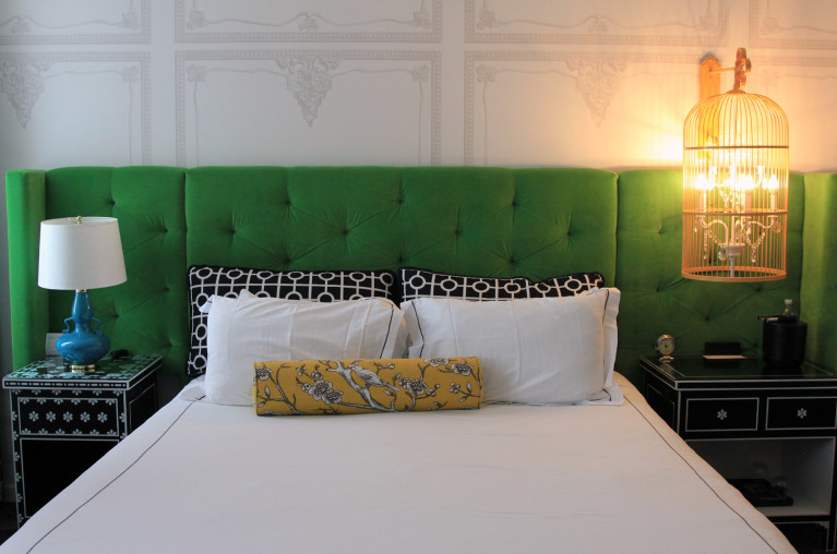 Shot of King Bed Room at the Kimpton Hotel Monaco in Pittsburgh :: I've Been Bit! Travel Blog