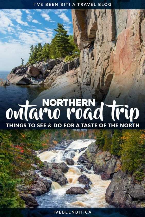 A northern Ontario road trip will show you untouched landscapes, incredible waterfalls, and more. Includes the Agawa Canyon Tour Train, Big Nickel and more with stops in Sault Ste Marie and Sudbury! | #Canada #CanadaTravel #Ontario #NothernOntario #AgawaCanyon #CanadaTips #TravelTips #CanadaItinerary #TravelItinerary | IveBeenBit.ca