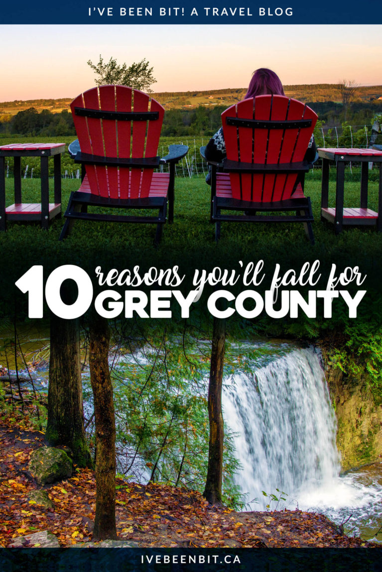 Grey County is a destination for all seasons, but you don't want to miss this area of Ontario in the fall. Autumn brings a wide range of colours and activities that you won't want to miss! This Grey County guide has everything you need to plan an epic autumn Ontario adventure. | #Travel #Canada #Ontario #GreyCounty #Autumn #Fall #Hiking #Waterfalls #Restaurants | IveBeenBit.ca