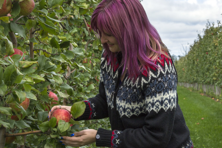 Lindsay Apple Picking at T&K Ferri Orchards, the Perfect Fall Activity in Grey County :: I've Been Bit! A Travel Blog
