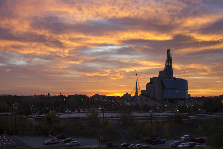 Winnipeg Sunrise with the Canadian Museum for Human Rights:: I've Been Bit! A Travel Blog