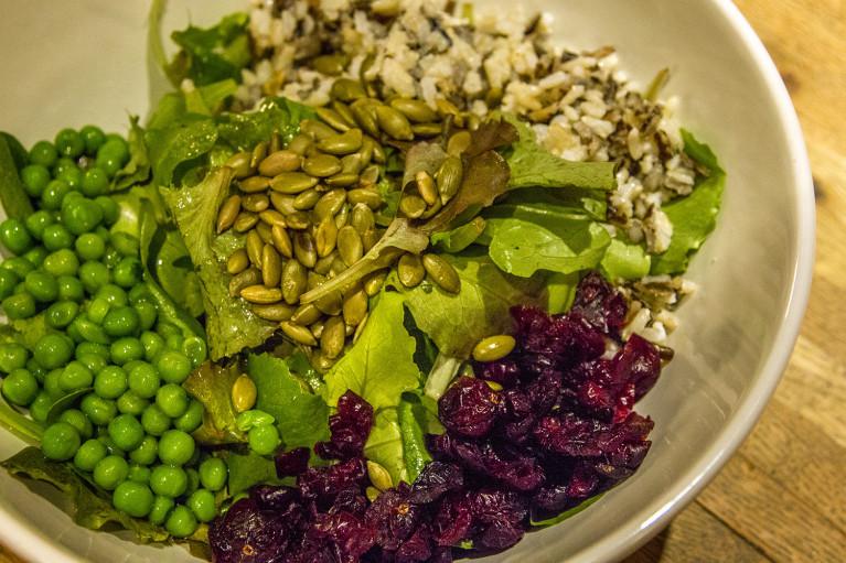 Salad Appetizer at Thermëa by Nordik Spa-Nature - Winnipeg's Modern Oasis :: I've Been Bit! A Travel Blog