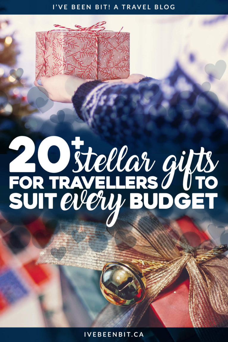 Most travellers will take experiences over possessions so finding gifts can be difficult. Luckily this list has 20+ items that every traveller will love! Gifts for Travel Lovers. Travel Gift Guide. | #Travel #Christmas #GiftGuide | IveBeenBit.ca