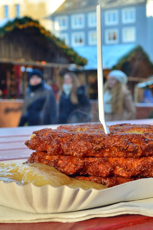 Kartoffelpuffer at at Kassel Weihnachtsmarkt - A Fairy Tale German Christmas Market :: I've Been Bit! A Travel Blog