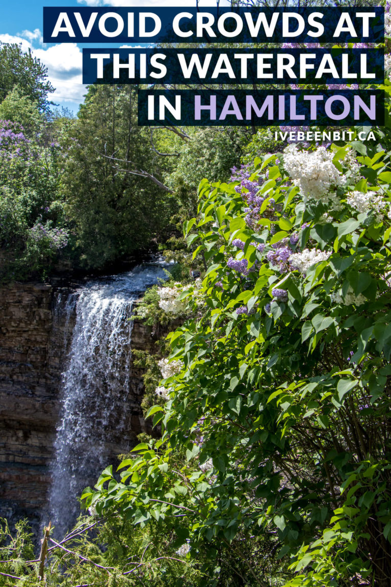 Hamilton Ontario is known as the city of waterfalls for a reason. While there are over 100 waterfalls to explore, this is a quiet gem you don't want to miss. You'll love exploring Borer's Falls in Canada! | A waterfall hiking trail you can't miss. Waterfalls in Ontario. Waterfalls in Canada. | #Travel #Canada #Ontario #Hamilton #Hiking #Waterfalls | IveBeenBit.ca