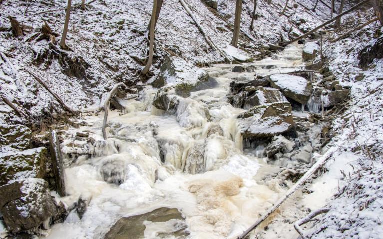 Upstream Borer's Creek - Hiking Hamilton's Borer's Falls :: I've Been Bit! A Travel Blog