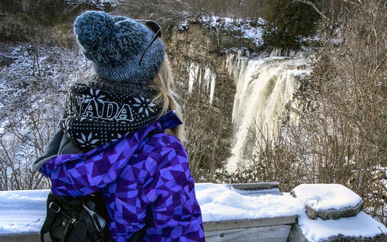 Borer's Falls from the Lookout Platform - Hiking Hamilton's Borer's Falls :: I've Been Bit! A Travel Blog