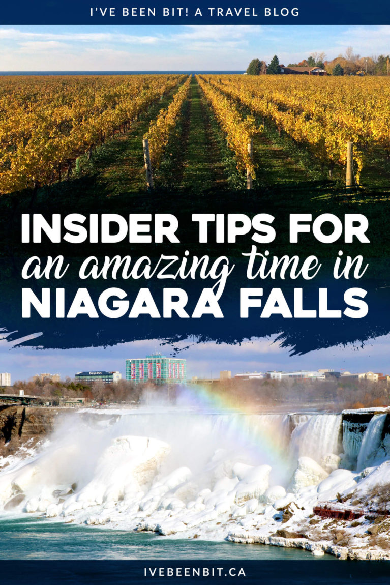 Niagara Falls is arguably the tourist mecca of Ontario... possibly even Canada. The downfall of attracting millions of visitors every year is that it can get busy (and pricey). Check out my insider travel tips and travel advice to have the best trip you can to Niagara Falls, Ontario and not break the bank! | #Travel #Canada #Ontario #NiagaraFalls #TravelTips #TravelAdvice | IveBeenBit.ca