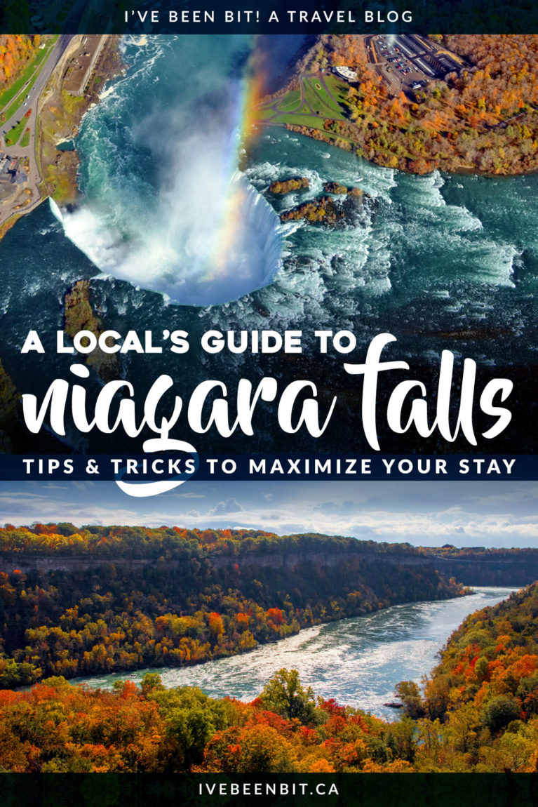 Planning a trip to Niagara Falls soon? This travel guide includes not just the amazing things to see and do in Niagara Falls but how you can get the most out of your visit. These insider tips for visiting Niagara Falls come from a local who knows the ins and outs of what to see, do, eat and more! | #Travel #Canada #Ontario #NiagaraFalls #TravelGuide #NorthAmerica | IveBeenBit.ca