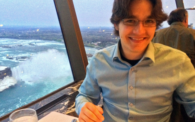 Robin with the view from the Skylon Tower :: I've Been Bit! A Travel Blog