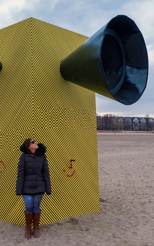 Lauren With This Great Winter Attraction in Toronto :: I've Been Bit! A Travel Blog