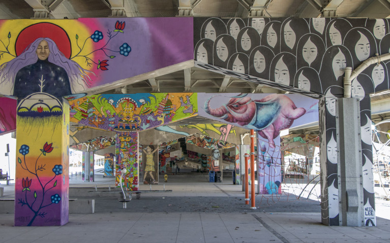 Underpass Park, One of Many Places to Visit in Toronto :: I've Been Bit! A Travel Blog