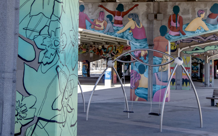 Playground in Underpass Park, One of Many Great Toronto Activities