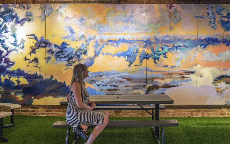 Loving The Murals In This Indoor Park :: I've Been Bit! A Travel Blog
