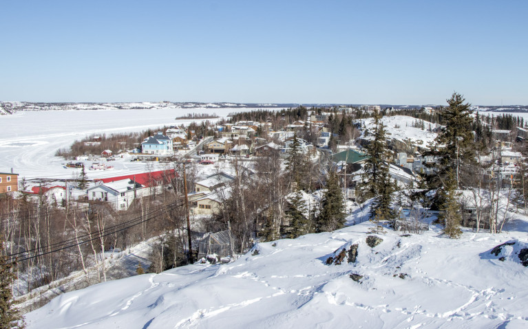 There's a Glimpse of Back Bay, Yellowknife :: I've Been Bit! A Travel Blog
