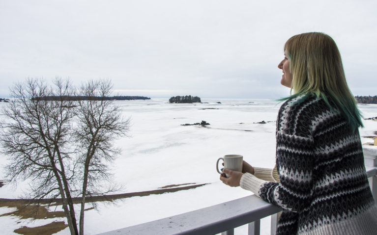 Admiring the View at Auberge des Îles :: I've Been Bit! A Travel Blog