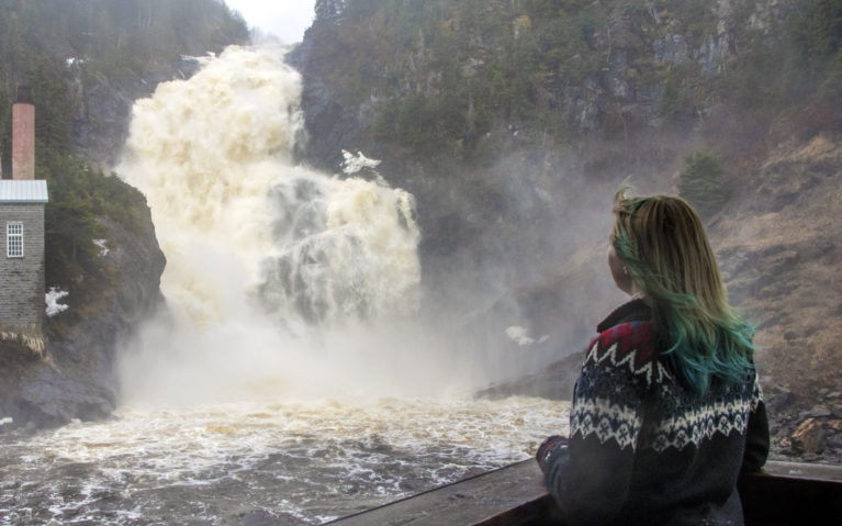 Mesmerized by this Saguenay Lac Saint Jean Waterfall :: I've Been Bit! A Travel Blog