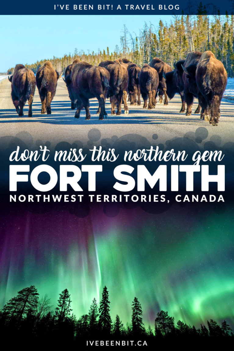 When exploring the Canadian north, Fort Smith in the Northwest Territories may not be on your radar but it's full of small town charm. See why you don't want to miss visiting it! Things to do in Fort Smith, NWT, Canada. | #Travel #Canada #NorthwestTerritories #NWT #RoadTrip | IveBeenBit.ca