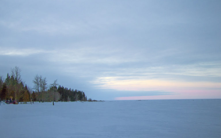 Sunset over Great Slave Lake, Hay River in the Northwest Territories :: I've Been Bit! A Travel Blog
