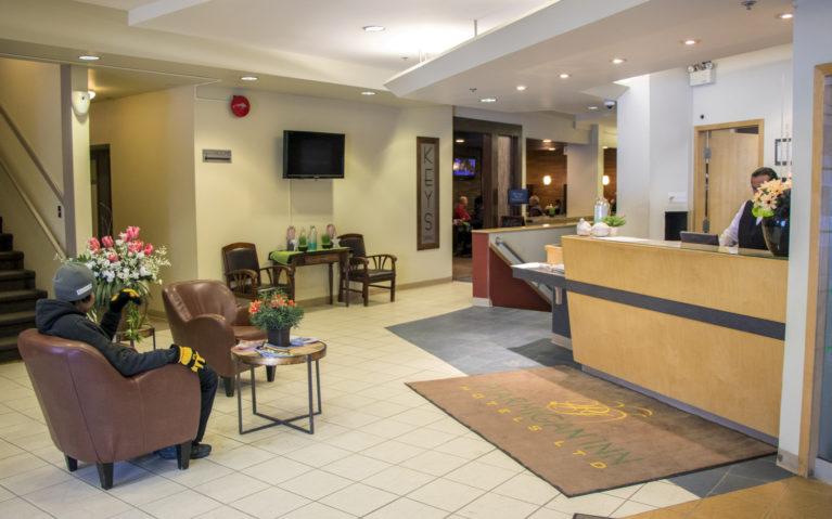 Ptarmigan Inn Hay River NWT Lobby :: I've Been Bit! A Travel Blog
