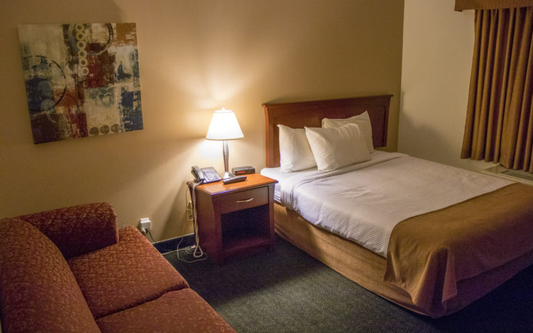 Double Room at the Ptarmigan Inn, One of the Hotels in Hay River NWT :: I've Been Bit! A Travel Blog