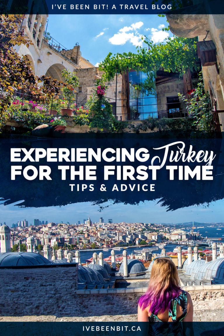 Before you think about the things to do in Turkey or even the things to do in Istanbul, check out these travel tips that are essential for anyone visiting Turkey for the first time! Turkey travel tips | #Travel #Turkey #TravelTips | IveBeenBit.ca