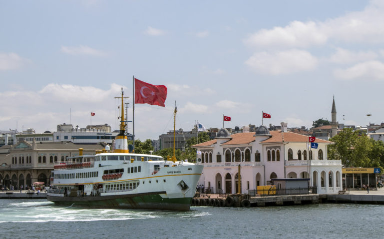 Taking the Ferry from the Asian to the European Side in Istanbul :: I've Been Bit! A Travel Blog