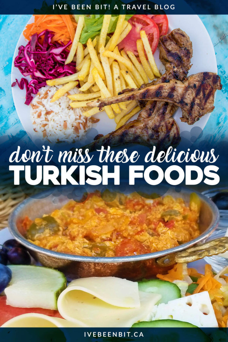 There is no shortage of great eats and treats in Turkey but be warned - my list of must try Turkish food will make you hungry! Turkish food guide. | #Travel #Europe #Asia #Turkey #TurkishFood | IveBeenBit.ca