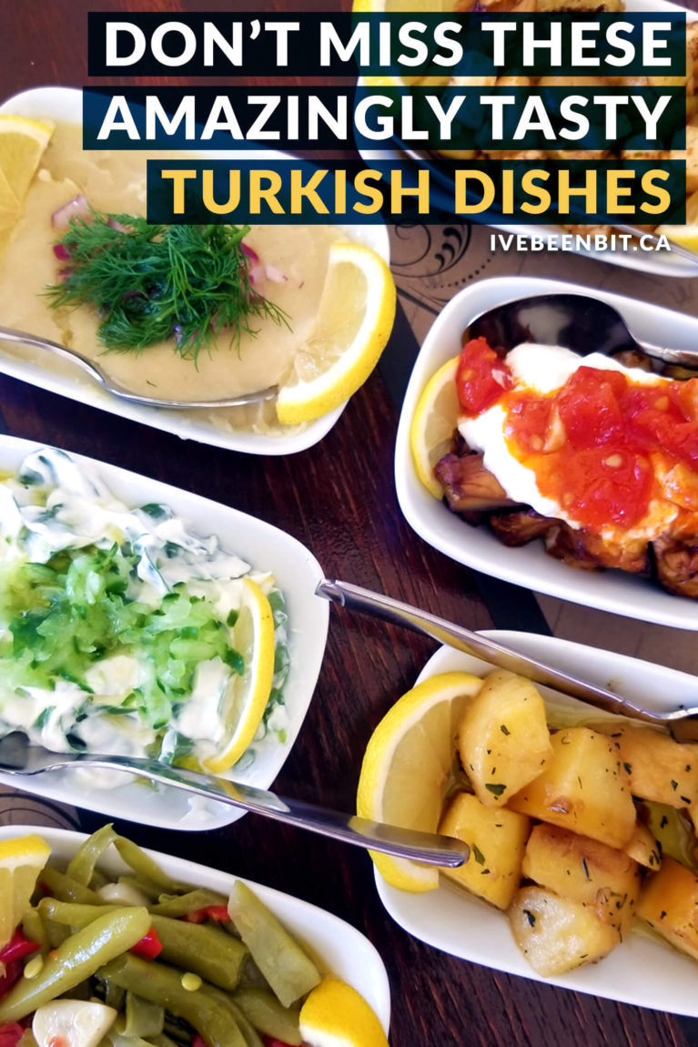 There is no shortage of great eats and treats in Turkey but be warned - my list of must try Turkish food will make you hungry! Guide to Turkish Food. | #Travel #Europe #Asia #Turkey #TurkishFood | IveBeenBit.ca