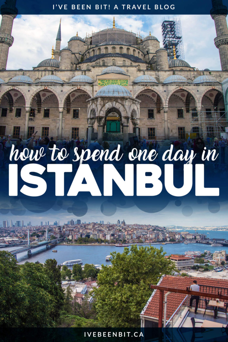 Looking to explore Istanbul but only have one day? These are the top things to do in just one day in Istanbul, Turkey. Including Hagia Sophia, Blue Mosque and more! Istanbul Turkey guide. Istanbul itinerary. | #Travel #Europe #Asia #Turkey #Istanbul #IstanbulItinerary | IveBeenBit.ca