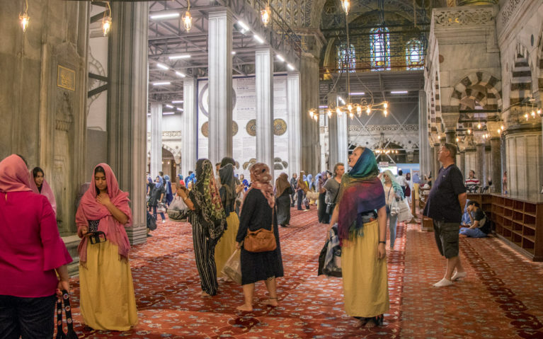 Inside the Blue Mosque of Istanbul :: I've Been Bit! A Travel Blog