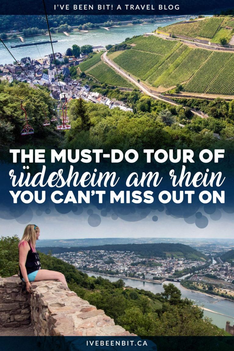 There's more to #Rüdesheim than the Drosselgasse! Explore the Niederwald's wonders & enjoy beautiful views of the Rhine River with the Rüdesheim Ring Ticket Tour in #Germany! #Travel #Hiking #Hesse #Rudesheim #RhineRiver #Rhein #TravelGuide | IveBeenBit.ca