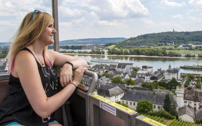 Me in the Rüdesheim Seilbahn aka the Cable Car! :: I've Been Bit! A Travel Blog