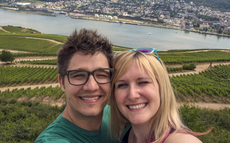 Robin and I Overlooking the Rhine :: I've Been Bit! A Travel Blog