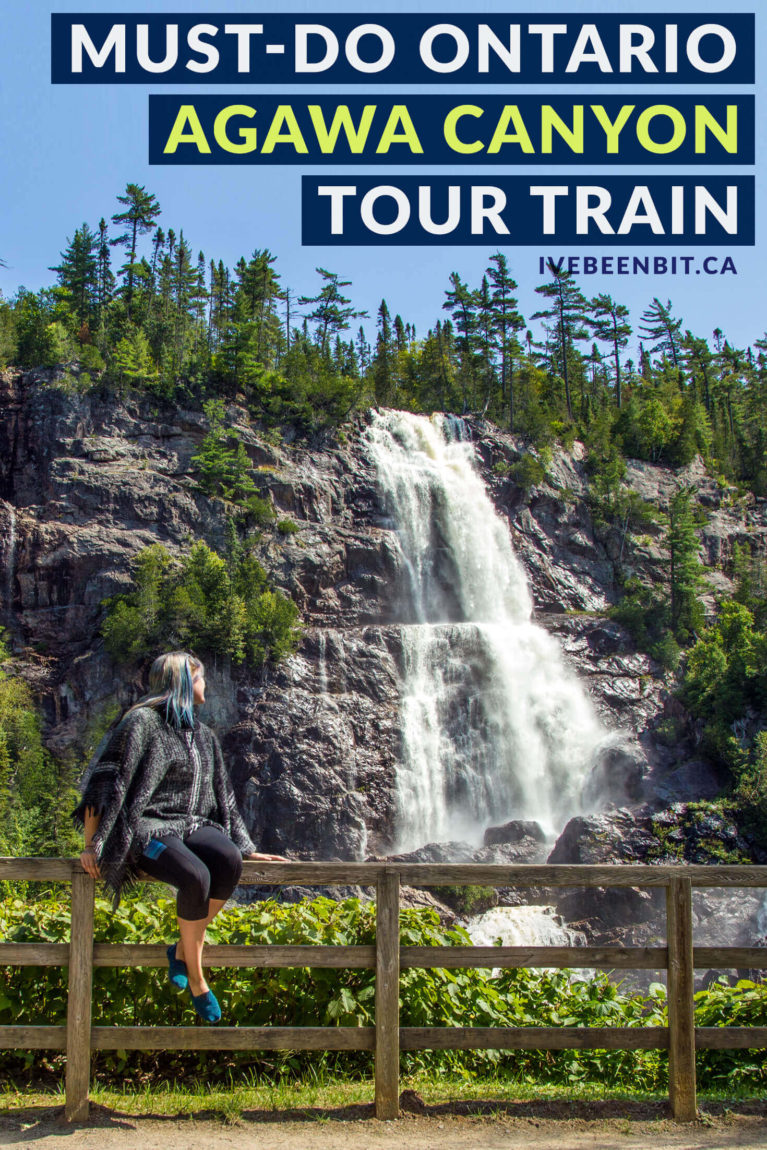 This is one day trip from Sault Ste Marie you won't want to miss. Travel to the heart of Northern Ontario with an epic full-day excursion on the Agawa Canyon Tour Train. The majestic views will take your breath away! | #Travel #Canada #Ontario #SaultSteMarie #AgawaCanyon #Summer | IveBeenBit.ca