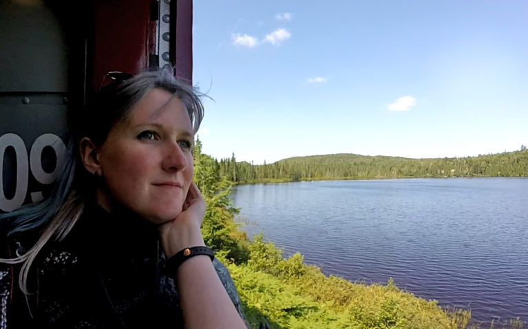 Me with the Agawa Canyon :: I've Been Bit! A Travel Blog
