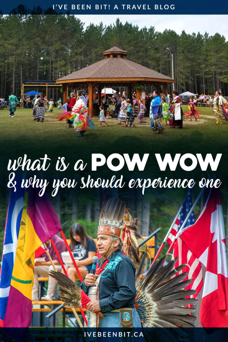 Pow Wows are incredible events celebrating the Indigenous Cultures of Turtle Island (North America). If you're wondering what a Pow Wow is, click to find out. Includes first time tips & more! | #Canada #Ontario #Travel #Indigenous #IndigenousTourism #FirstNations #TurtleIsland | IveBeenBit.ca
