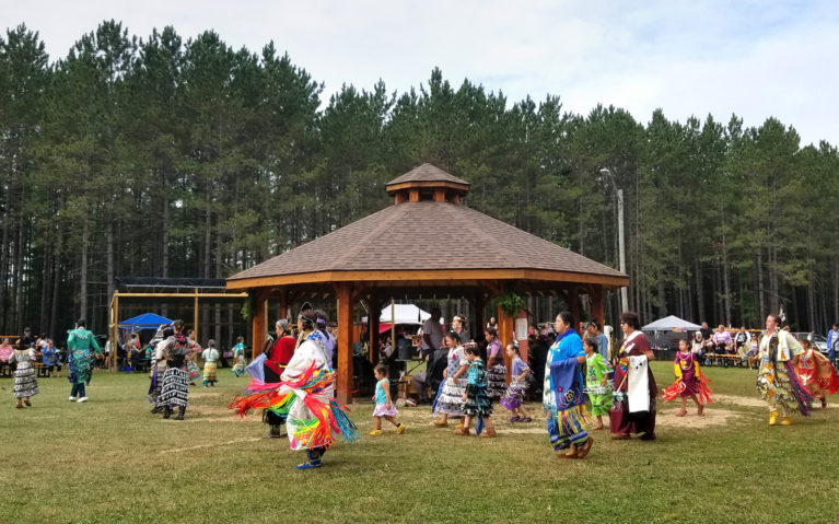 Ladies of All Ages Dancing at the Pow Wow :: I've Been Bit! A Travel Blog