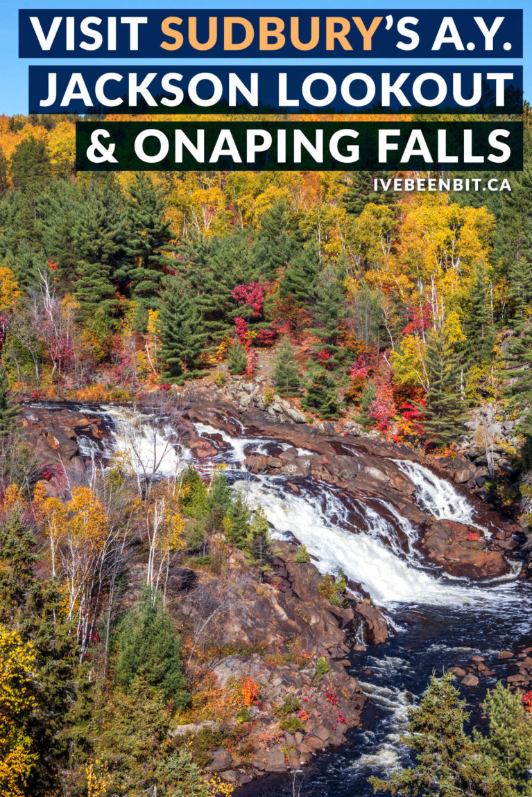 If you will detour for waterfalls in Ontario, you gotta plan a hiking trip to see this one! If you're heading to Northern Ontario, plan a day trip from Sudbury to visit Onaping Falls and the A.Y. Jackson Lookout. This lesser known Ontario waterfall is a must visit! | #Travel #Canada #Ontario #NorthernOntario #Waterfalls #Hiking | IveBeenBit.ca