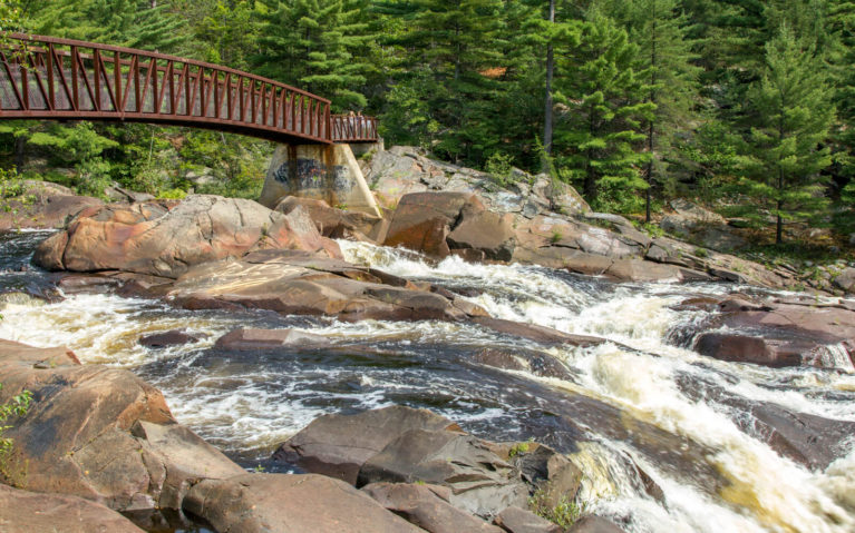 Close to the Bridge on the Onaping Falls Trail :: I've Been Bit! A Travel Blog