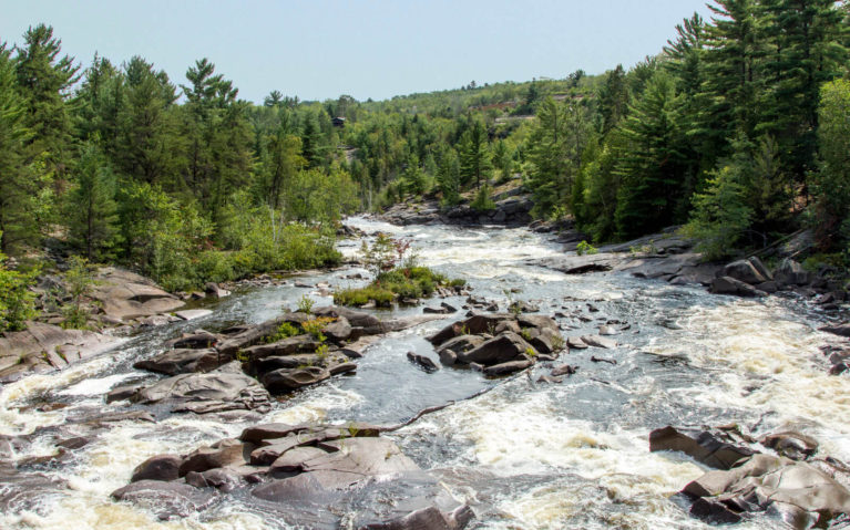 View from the Onaping Falls Pedestrian Bridge :: I've Been Bit! A Travel Blog