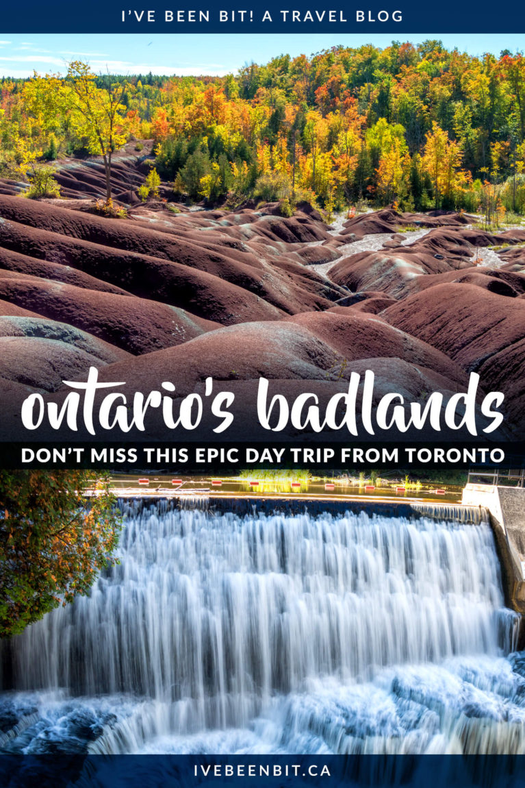If you're looking for one of the best day trips from Toronto Ontario, that has to be the Cheltenham Badlands! See how you can pair it with a visit to Belfountain Ontario for a fantastic day of exploring. | Cheltenham Badlands Ontario | Belfountain Conservation Area | Ontario Hiking Trails | Hiking in Ontario | Unique Things to Do in Ontario | Ontario Canada Travel | IveBeenBit.ca