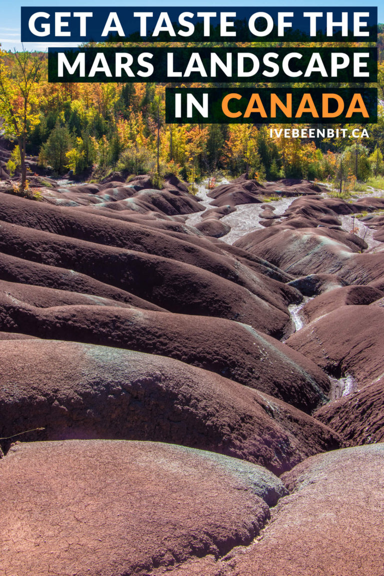 Looking for the perfect escape from Toronto in Ontario, Canada? Travel to Caledon and get away from the hustle & bustle with amazing hiking trails, geological formations, waterfalls & more at Belfountain Conservation Area & the Cheltenham Badlands! | #Travel #Hiking #Hike #Ontario #Canada #Waterfall #Waterfalls | IveBeenBit.ca